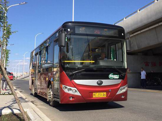 Yutong new energy city buses gallop on the land of snow
